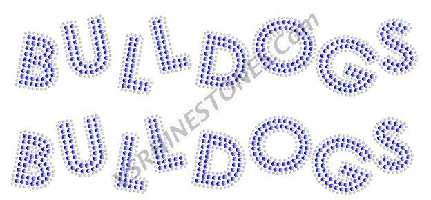 Bulldogs Sequin Word (2 per order) Gold